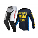 Fasthouse Kinder Crosskleding 2020 Worx 68 - Wit / Blauw / Rood