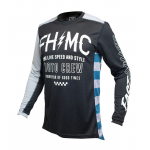 Fasthouse Cross Shirt 2021 Grindhouse Cypher - Zwart / Zilver