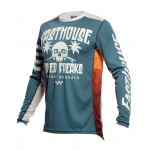 Fasthouse Cross Shirt 2021 Grindhouse Swell - Slate / Wit