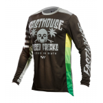 Fasthouse Cross Shirt 2021 Grindhouse Swell - Zwart / Charcoal