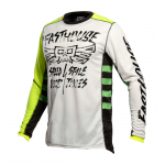 Fasthouse Cross Shirt 2021 Grindhouse Tribe - Wit / High Viz