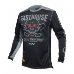 Fasthouse Cross Shirt 2021 Grindhouse Twitch - Zwart / Charcoal