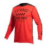 Fasthouse Kinder Cross Shirt 2021 Carbon - Rood / Zwart