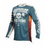 Fasthouse Kinder Cross Shirt 2021 Grindhouse Swell - Slate / Wit