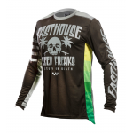 Fasthouse Kinder Cross Shirt 2021 Grindhouse Swell - Zwart / Charcoal