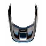 Fox Helmklep 2019 V1 Motif - Blauw / Grijs