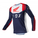 Fox Cross Shirt 2020 Flexair Honda - Navy / Rood