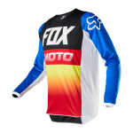 Fox Kinder Cross Shirt 2020 180 Fyce - Blauw / Rood