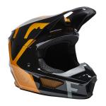 Fox Crosshelm 2022 V1 Skew - Zwart / Goud