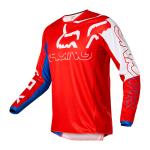 Fox Kinder Cross Shirt 2022 180 Skew - Wit / Rood / Blauw
