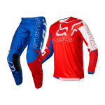 Fox Kinder Crosskleding 2022 180 Skew - Wit / Rood / Blauw