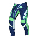 JT Racing Crossbroek Flex Flow - Blauw / Groen / Wit