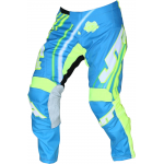 JT Racing Crossbroek Flex Flow - Cyan / Geel / Wit