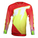 JT Racing Cross Shirt Flex Voltage - Jeugd - Rood / Geel / Wit