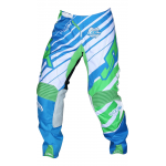 JT Racing Crossbroek Hyperlite Remix - Cyan / Groen / Wit