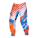 JT Racing Crossbroek Hyperlite Remix - Oranje / Cyan / Wit