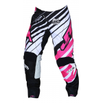 JT Racing Crossbroek Hyperlite Remix - Zwart / Roze / Wit