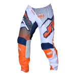 JT Racing Crossbroek Hyperlite Voltage - Blauw / Oranje / Wit