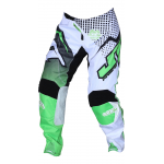 JT Racing Crossbroek Hyperlite Voltage - Zwart / Groen / Wit