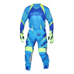JT Racing Crosskleding Flex Flow - Cyan / Geel / Wit