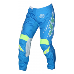 JT Racing Crossbroek Slasher Flow - Cyan / Geel