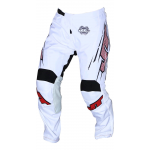 JT Racing Crossbroek Slasher Flow - Wit / Zwart
