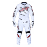 JT Racing Crosskleding Slasher Flow - Wit / Zwart