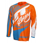JT Racing Cross Shirt 2017 Flex Victory - Jeugd - Flo Oranje / Cyan