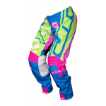 JT Racing Crossbroek 2017 Hyperlite Breaker - Flo Groen / Cyan / Roze