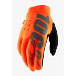 100% Kinder Crosshandschoenen Brisker - Fluo Oranje / Zwart