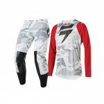 Shift Crosskleding 2020 3LUE Label Snow Camo - Rood / Camo