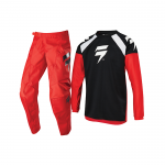 Shift Kinder Crosskleding 2020 WHIT3 Label Race 1 - Zwart / Rood