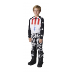 Shift Kinder Crosskleding 2021 3LUE Label Flame - Wit / Zwart
