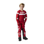 Shift Kinder Crosskleding 2021 WHIT3 Label Haut - Rood