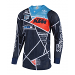 Troy Lee Designs Cross Shirt 2018.2 SE AIR Metric - Navy / Oranje