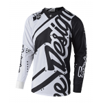 Troy Lee Designs Cross Shirt 2018.2 SE Shadow - Wit / Zwart