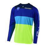 Troy Lee Designs Cross Shirt 2019 SE Beta - Flo Geel / Blauw