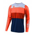 Troy Lee Designs Cross Shirt 2019 SE Beta - Oranje / Navy