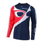 Troy Lee Designs Cross Shirt 2019 SE PRO Neptune - Navy / Rood