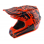 Troy Lee Designs Crosshelm 2018.2 SE4 Polyacrylite Factory - Oranje