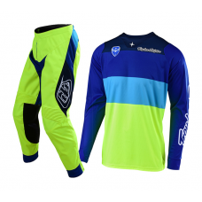 Troy Lee Designs Crosskleding 2019 SE Beta - Flo Geel / Blauw