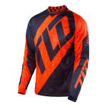 Troy Lee Designs Cross Shirt 2017 GP Air Quest - Flo Oranje / Navy