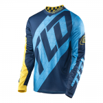 Troy Lee Designs Cross Shirt 2017 GP Quest - Blauw / Geel