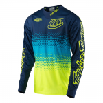 Troy Lee Designs Cross Shirt 2017 GP Starburst - Jeugd - Geel / Navy