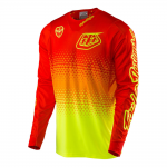 Troy Lee Designs Cross Shirt 2017 SE Air Starburst - Flo Geel / Oranje