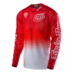 Troy Lee Designs Cross Shirt 2017 SE Air Starburst - Wit / Rood