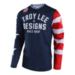 Troy Lee Designs Cross Shirt 2018 GP AIR Americana - Navy