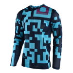Troy Lee Designs Cross Shirt 2018 GP AIR Maze - Turquoise / Navy