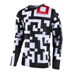 Troy Lee Designs Cross Shirt 2018 GP AIR Maze - Wit / Zwart