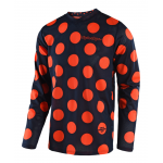 Troy Lee Designs Cross Shirt 2018 GP AIR Polka Dot - Navy / Oranje